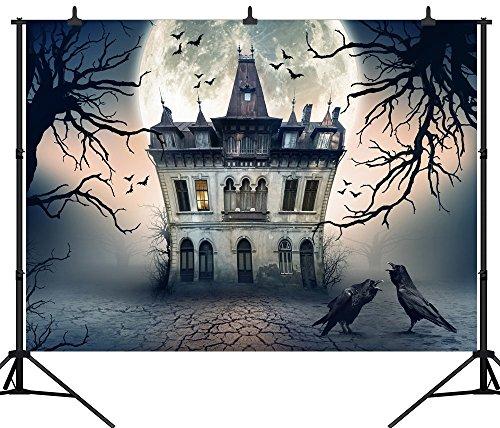 DePhoto 7X5FT(210X150CM) Halloween Theme Pumpkin Lantern Customized Seamless Vinyl Photography Backdrop Photo Background Studio Prop PGT247A