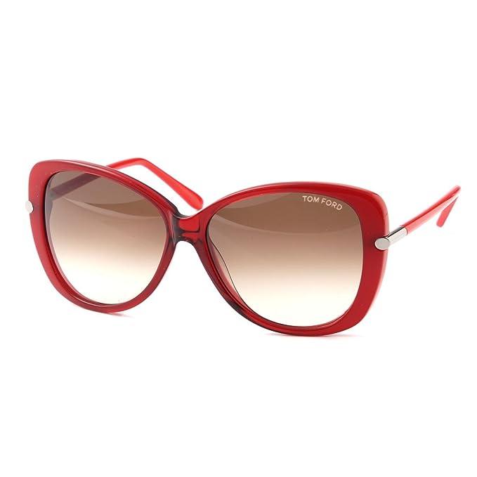 35ee50d9ce Tom Ford Gafas de Sol FT-LINDA 0324S-68F (59 mm) Rojo: Amazon.es: Ropa y  accesorios