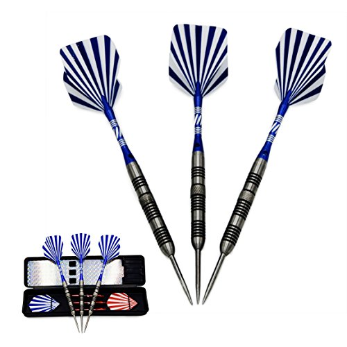Valor Source 90% Tungsten Steel Tip Dart Set with Travel Case, 22 Grams by Valor Source
