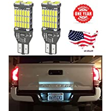 LED Monster 2-Pack Extremely Bright Brake Lights 45SMD T10 T15 194 921, 45 Chipsets, Xenon White, 1600 Lumens, No Hyper Flash