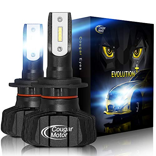 Cougar Motor H7 Led bulb, 9600Lm 6500K Fanless Conversion Kit - 3D Bionic Technology, 360°Adjustable Beam, Quick Installation, Replacement Low Fog Light