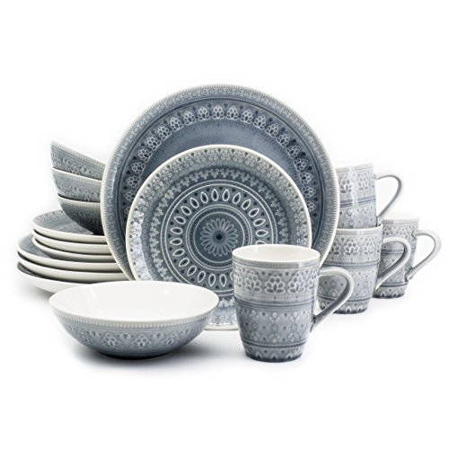 Euro Ceramica Collection Crackleglaze Dinnerware