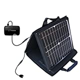 Gomadic SunVolt Powerful and Portable Solar Charger suitable for the Novatel Mifi 2372 - Incredible charge speeds for up to two devices