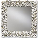 Currey and Company 1348 Oyster Shell Square Mirror, Natural Shell Finish