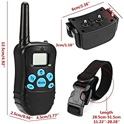 Cibeat Waterproof Indoor Portable Remote Control Rechargeable LCD Pet Dog Training Shock Stop Barking Neck Collar