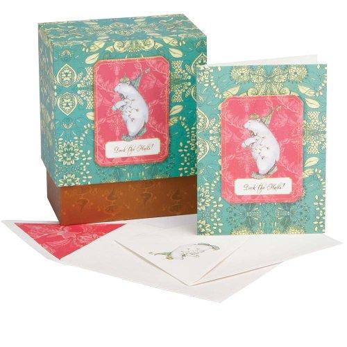 - C.R. Gibson Cid Pear 12-Count Boxed Greeting Cards, Polar Bear Walk