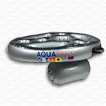 AQUAPARX Whirlpool Bar Soporte para bebidas flotante, bandeja para piscina, minibar, bienestar, accesorio de Jacuzzi (baño ...