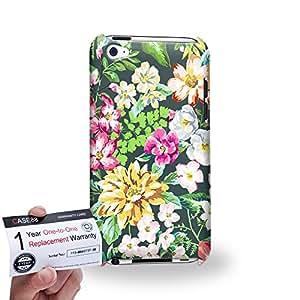 Case88 [Apple iPod Touch 4] 3D impresa Carcasa/Funda dura para & Tarjeta de garantía - Art Fashion Summer Season Floral