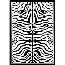 nuLOOM 14103030070-53072 Machine Made Animal Prints 100 Percent Poly-Olefin Black and White Rug (5-Feet 2-Inch X 7-Feet 9-Inch)