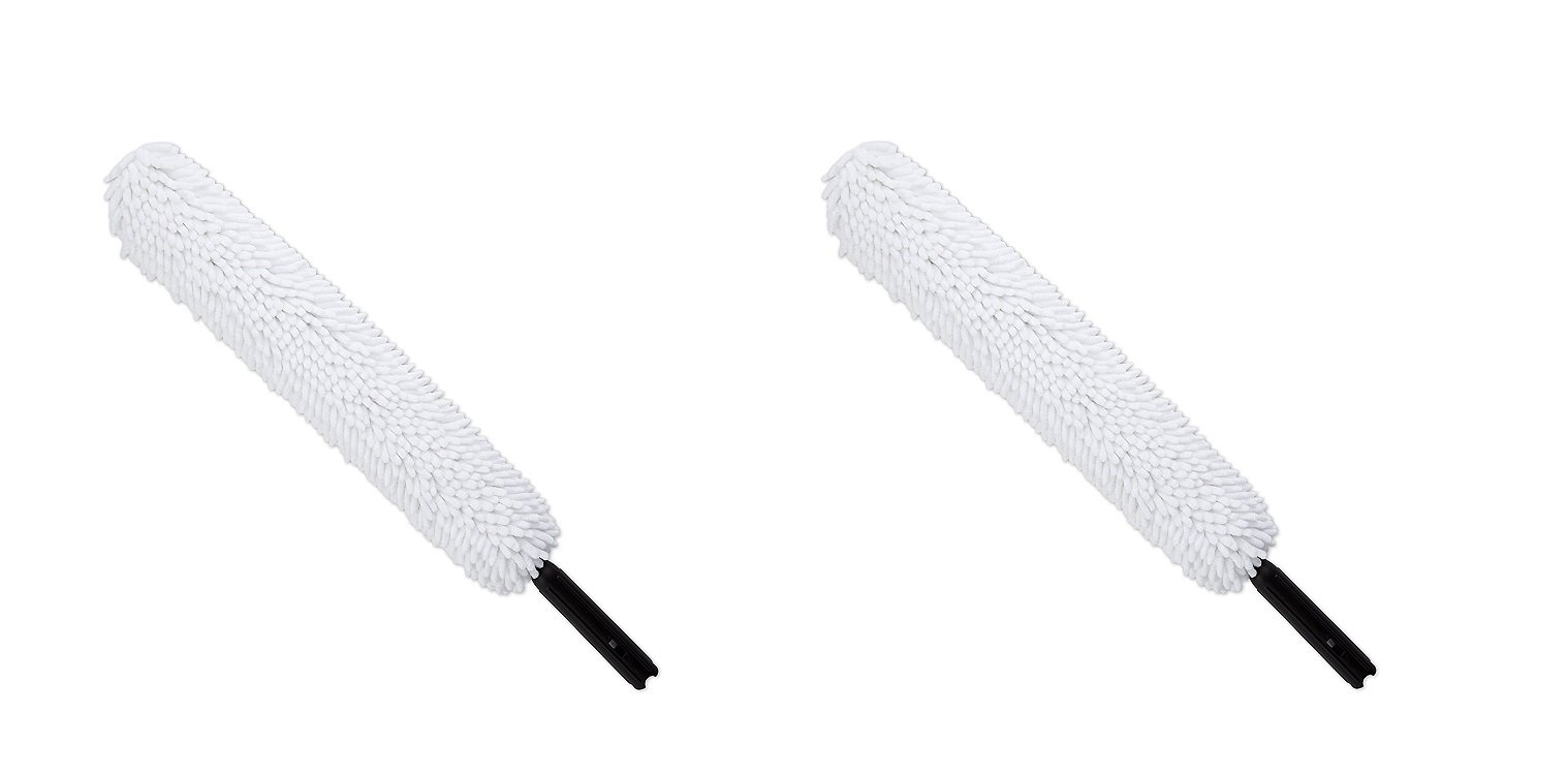 Rubbermaid Commercial Executive Series HYGEN High-Performance Flexible Microfiber Duster and Frame, White (2 PACK)