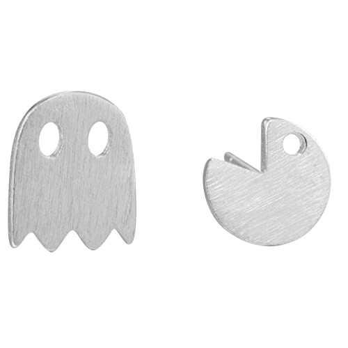 Pacman Ghost Game post orecchini in argento Sterling 925 pendientes ...