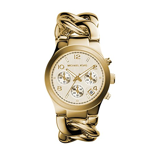 Michael Kors Women's Runway Gold-Tone Watch (Chain Gold Wrist Watch)