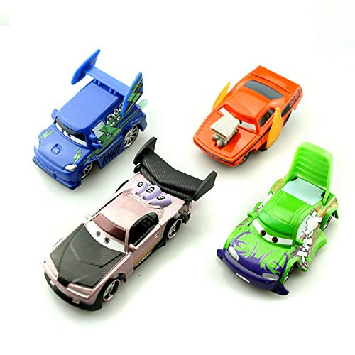 Set10  4 Bad Fellows FidgetKute Car Toys Lightning McQueen Trucks & Racers Metal 1 55 Loose Kids Baby Toys Set18 +5 Racers