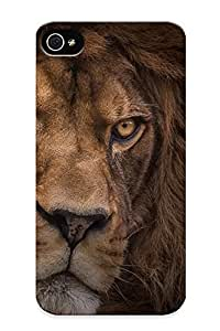 Anti-scratch And Shatterproof Lion Predator Phone Case For Iphone 4/4s/ High Quality Tpu Case