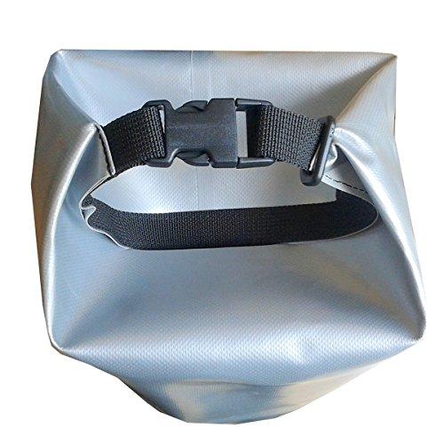 CROSSO Transportbeutel für den Gepäckträger Silber 50 L