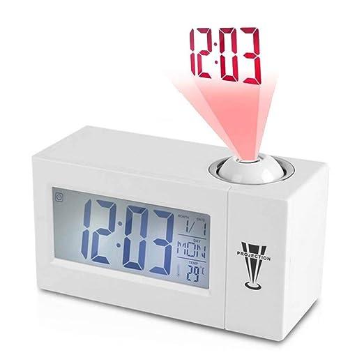 TEEPAO Reloj despertador de proyección, 6.2 pulgadas, función de ...
