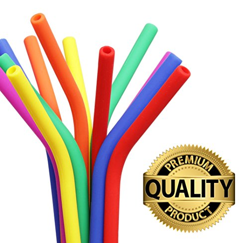 Reusable Drinking Straws BPA Free Silicone - (x6) STANDARD WIDTH 20oz, 30oz, Eco Friendly for Hot & Cold Drinks   Premium Quality, Protect Your Teeth and Reduce Plastic Waste Now! by Seraphina's Kitchen (Image #2)