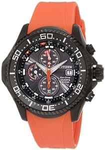 Citizen Promaster Men's Black Chronograph Dial Rubber Band Watch [BJ2119-06E]