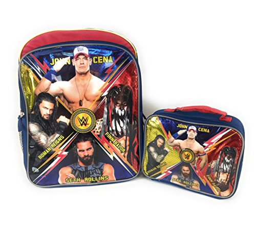 John Cena 16 Backpack Insulated Lunch Box WWE Seth Rollins Finn Roman Combo Kit Crew by AccInn