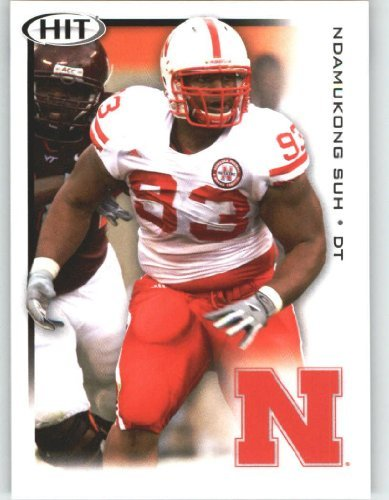 Ndamukong Suh DT / Nebraska (RC - Rookie Card) FIRST EVER NFL Trading Card - 2010 Sage HIT Football Card Shipped in Protective Screwdown Case