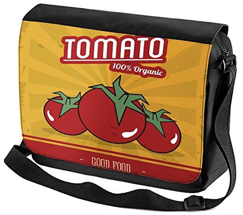 Umhänge Schulter Tasche Retro Bio Tomate bedruckt U87WVj7