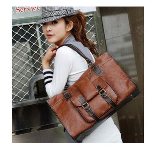 [Flying Birds 2014 Women Popular Ladyies Shoulder Bags Vintage Multi-purpose Handbag Messenger Bag Large Capacity Smiley Bag HA8593 (light] (Sale On Purses)