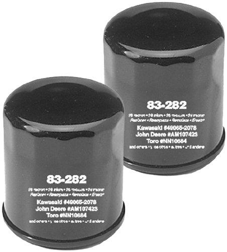 Oregon 83-282 Oil Filter (2 Pack) Replaces Club Car 41016-67 Cushman 833438 John Deere AM101054 AM107423 Kawasaki 49065-2001