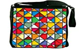 Rikki Knight Stained Glass Pattern Design Messenger Bag - Shoulder Bag - School Bag for School or Work