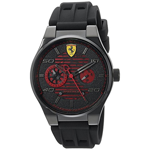 Ferrari-Mens-Speciale-Quartz-Stainless-Steel-and-Rubber-Casual-Watch-ColorBlack-Model-830431