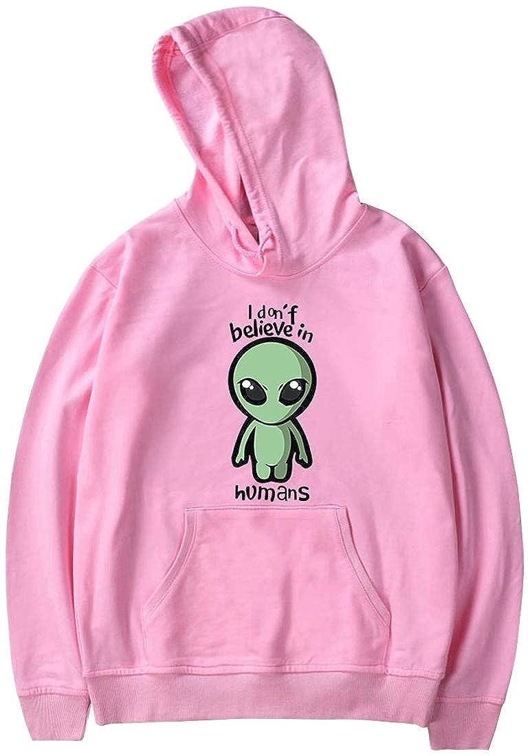 PANOZON Hombre Sudadera Alien con Capucha Impresi/ón de Extraterrestre UFO Videojuego Storm Area 51 Moda de Calle
