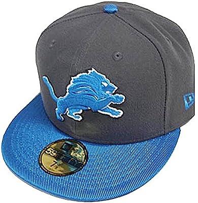 New Era NFL Detroit Lions Ballistic VIsor Cap 59fifty Fitted Basecap 5950 Mens