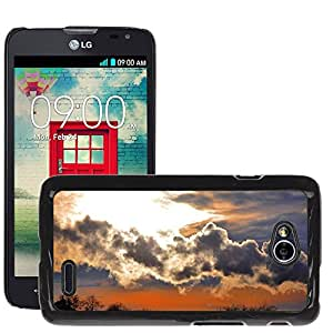 Super Stella Slim PC Hard Case Cover Skin Armor Shell Protection // M00421425 Dawn Nature Early Sunset Clouds // LG Optimus L70 MS323