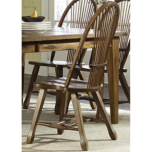 (Liberty Furniture Treasures Sheaf Back Dining Side Chair in Rustic Oak)