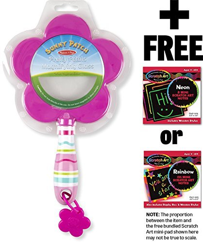 Pretty Petals Magnifying Glass: Sunny Patch Outdoor Play Series + FREE Melissa & Doug Scratch Art Mini-Pad Bundle [60929]