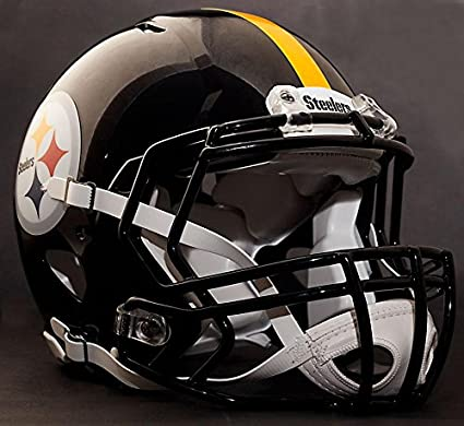68729b24be0 Amazon.com   Riddell Speed Pittsburgh Steelers NFL Replica Football Helmet  with S2BD Football Helmet Facemask Faceguard   Sports   Outdoors