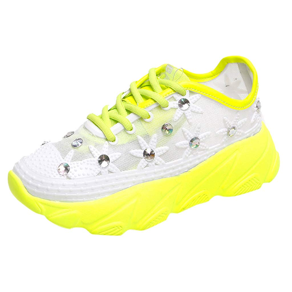 Moonker Womens Arch Support Sneakers Wide Width Walking Shoes Ladies Girls Summer Lace-Up Casual Shoes