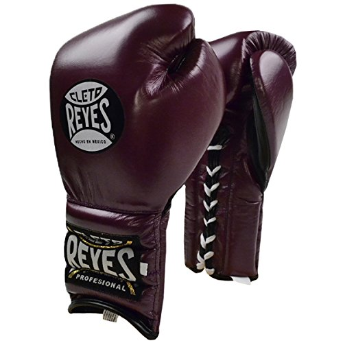 Cleto Reyes Traditional Lace Up Training Boxing Gloves - 16 oz. - Purple