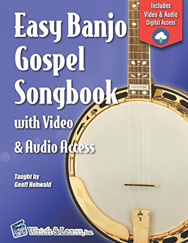 Easy Banjo Gospel Songbook with Video & Audio Access