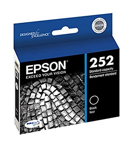 Epson 252 DURABrite Ultra Black Ink Cartridge (Printer Cartridges Wf 3640)