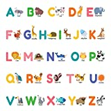 Best Stickers For Bedroom Walls - Decowall DS-8014 Colourful Animal Alphabet ABC Kids Wall Review