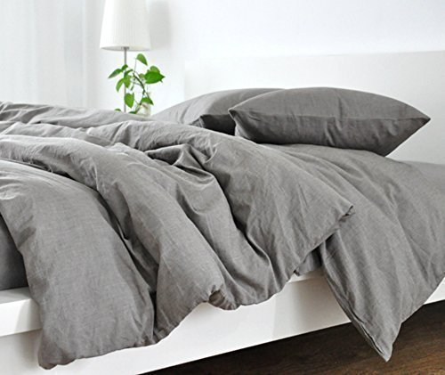 Handmade Medium Grey Duvet Cover, Grey Linen Duvet Cover, Grey Bedding, Custom Bedding, Linen Bedding, Queen Duvet Cover, King Duvet Cover, Twin Duvet Cover, FREE SHIPPING by SuperiorCustomLinens