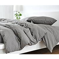 Handmade Medium Grey Duvet Cover, Grey Linen Duvet Cover, Grey Bedding,  Custom Bedding, Linen Bedding, Queen Duvet Cover, King