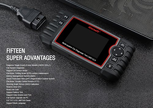 iCarsoft Auto Diagnostic Scanner L600 V2.0 for Landrover and Jaguar with ABS Scan,Oil Reset EPB etc by iCarsoft (Image #3)