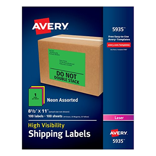 Avery High Visibility Shipping Printers Assorted