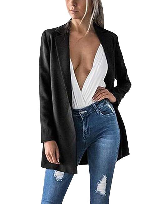 Blazers Mujeres Ajustado Elegante Oficina Blusa Traje de ...