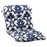 Cheap Pillow Perfect Indoor/Outdoor Bosco Rounded Chair Cushion, Navy
