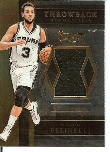 2017-18 Select Throwback Memorabilia #26 Marco Belinelli MEM Spurs