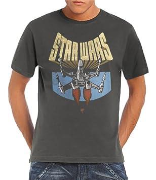 63a62791de6 Touchlines Star Wars X-Wing Fighter T-Shirt S - XXL Dark grey Size ...