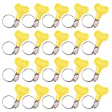 INCREWAY 20pcs 10-16mm Key-Type Adjustable Stainless Steel Hose Clamp,Worm Gear Clamps for Home Brewing Plumbing Automotive and Mechanical Applications