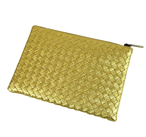 8417 Woven Bag Gold Intrecciato Veneta Leather Bottega 302293 Clutch Pouch wazAx